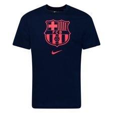 Barcelona T-Shirt Crest - Navy/Röd