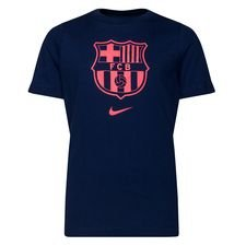 Barcelona T-Shirt Evergreen - Navy/Röd Barn