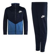 Nike Trainingspak NSW Core Futura - Navy/Blauw Wit Kinderen