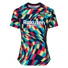 Barcelona Tränings T-Shirt Pre Match - Navy/Grön Dam