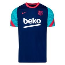 Barcelona Tränings T-Shirt Breathe Strike - Navy/Röd