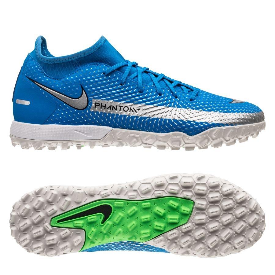 Nike Phantom GT Academy DF TF Spectrum - Blå/Sølv/Grøn thumbnail