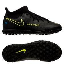 Nike Phantom GT Club DF TF Black x Prism - Sort/Gul/Blå Børn