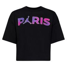 Paris Saint-Germain T-Shirt Core Jordan x PSG - Svart/Lila Dam