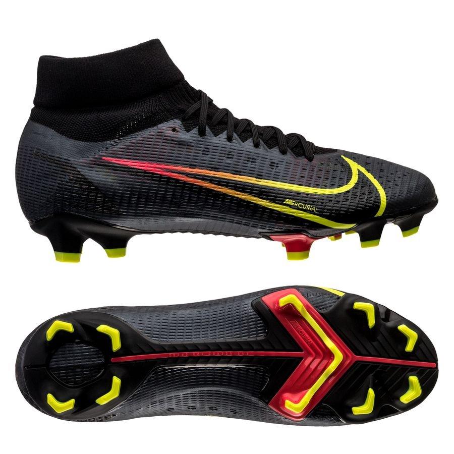 Nike Mercurial Superfly 8 Pro FG Black x Prism - Zwart/Geel/Rood <br/>EUR 104.95 <br/> <a href=