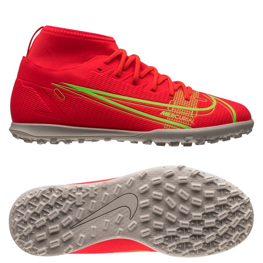Nike Mercurial Superfly 8 Club TF Spectrum - Rood/Zilver Kinderen <br/>EUR 54.95 <br/> <a href=