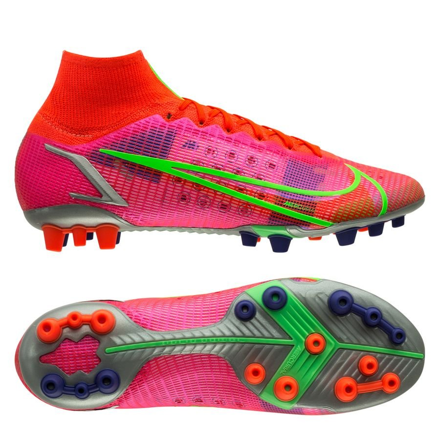 Nike Mercurial Superfly 8 Elite AG-PRO Spectrum - Rood/Zilver <br/>EUR 188.95 <br/> <a href=