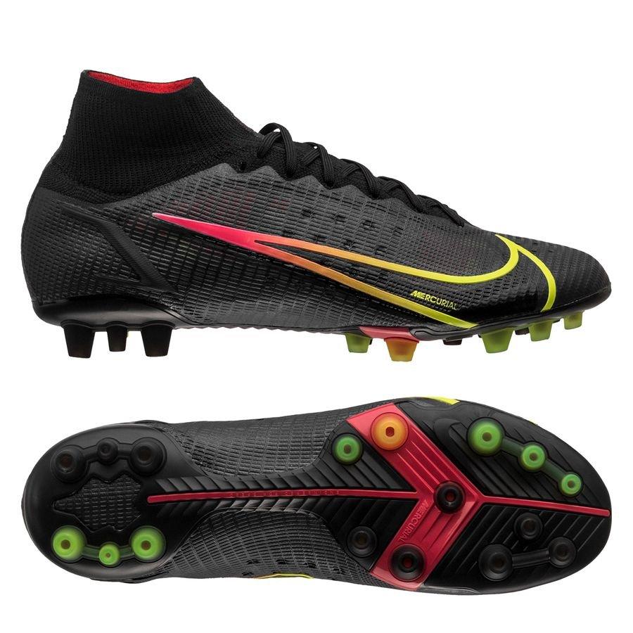 Nike Mercurial Superfly 8 Elite AG-PRO Black x Prism - Zwart/Geel/Rood <br/>EUR 188.95 <br/> <a href=