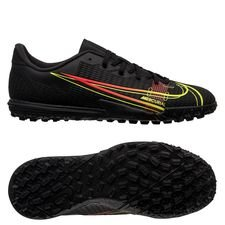 Nike Mercurial Vapor 14 Academy TF Black x Prism - Sort/Gul/Rød Børn
