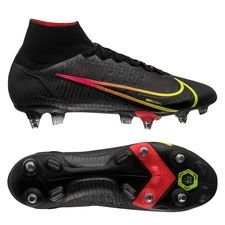 Nike Mercurial Superfly 8 Elite SG-PRO Black x Prism - Sort/Gul/Rød