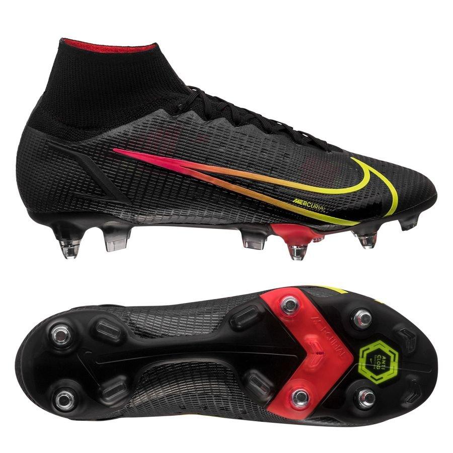 Nike Mercurial Superfly 8 Elite SG-PRO Anti-Clog Black x Prism - Zwart/Geel/Rood <br/>EUR 209.95 <br/> <a href=