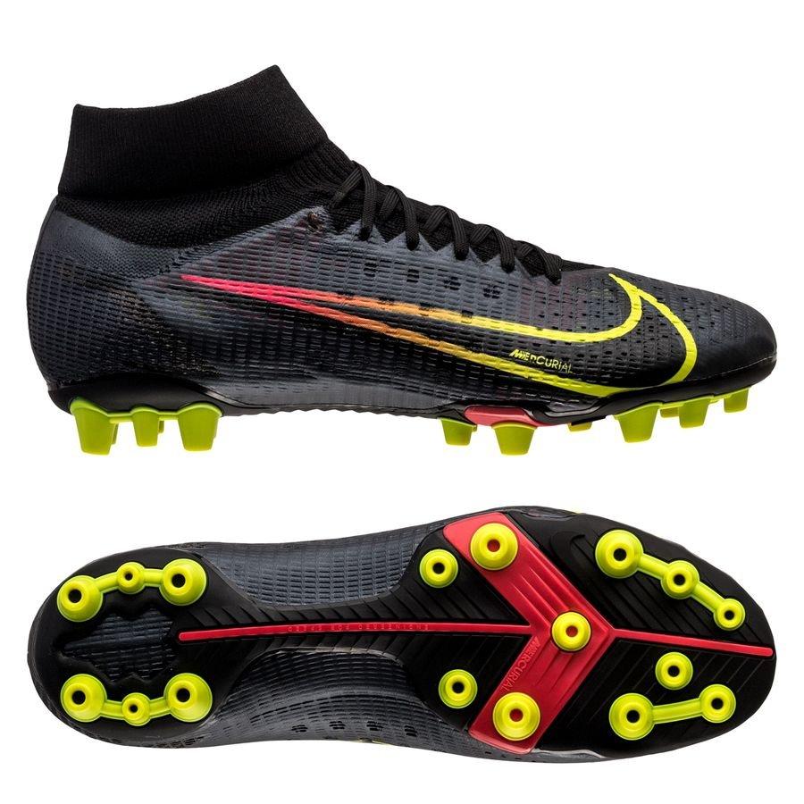 Nike Mercurial Superfly 8 Pro AG-PRO Black x Prism - Zwart/Geel/Rood <br/>EUR 111.95 <br/> <a href=