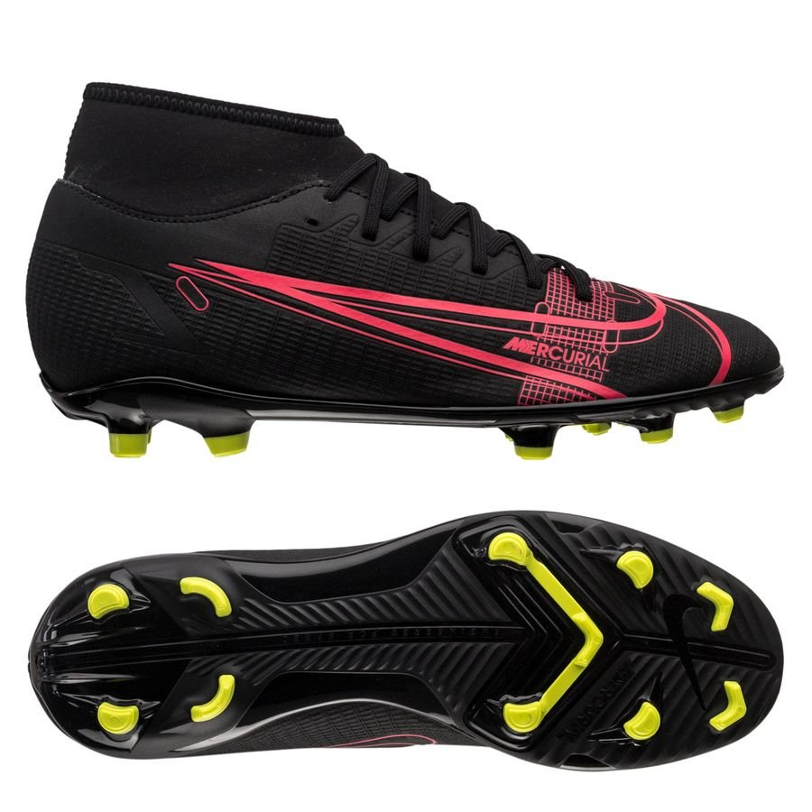Nike Mercurial Superfly 8 Club MG Black x Prism - Zwart/Geel/Rood <br/>EUR 31.95 <br/> <a href=