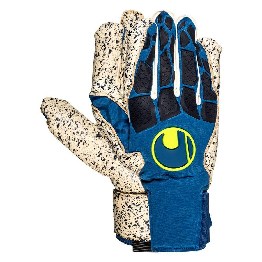 Uhlsport Keepershandschoenen Hyper Act Supergrip+ - Blauw/Wit/Fluo Yellow