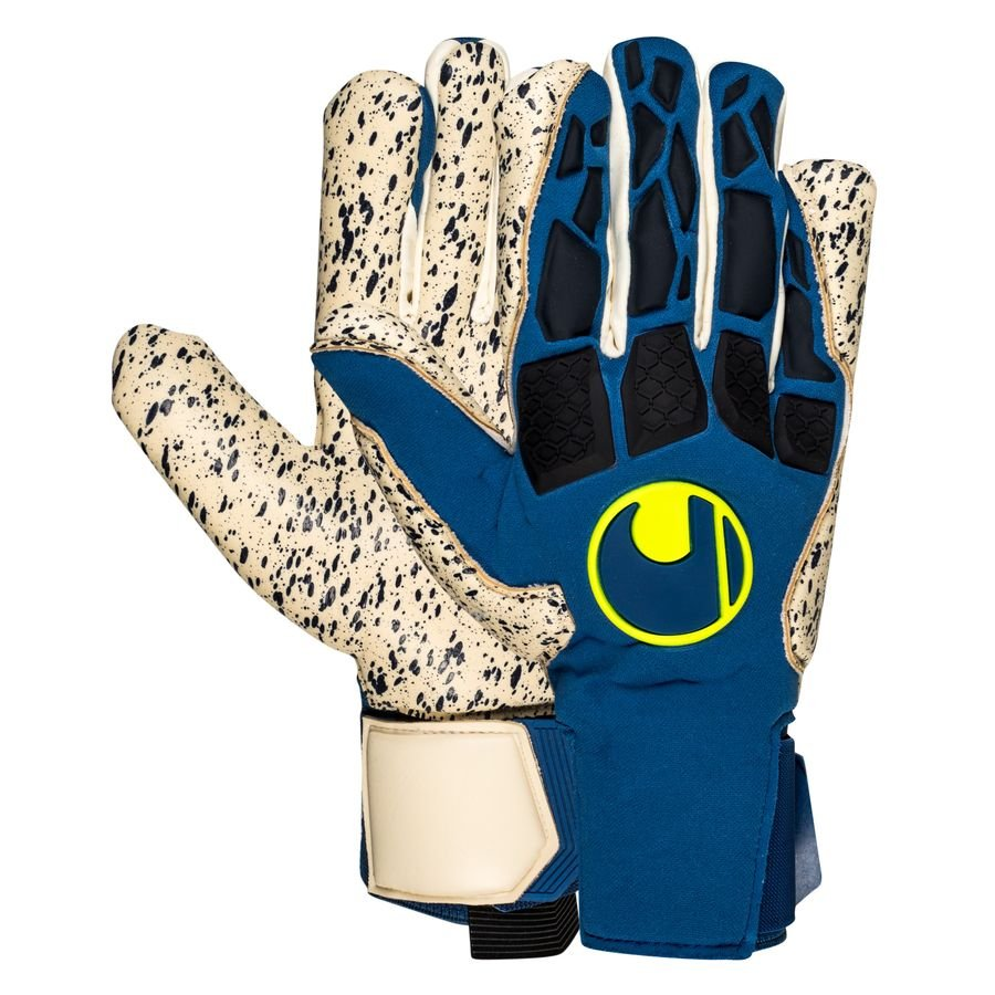 Uhlsport Keepershandschoenen Hyper Act Supergrip+ HN - Blauw/Wit/Fluo Yellow