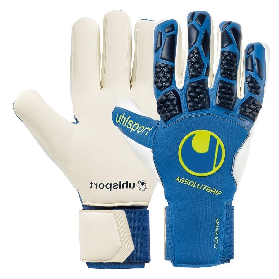 Uhlsport Keepershandschoenen Hyper Act Absolutgrip HN - Blauw/Wit/Fluo Yellow