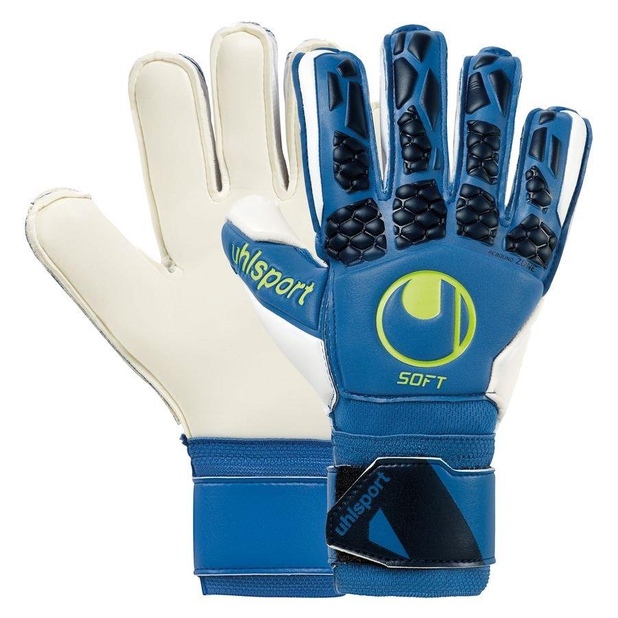 Uhlsport Keepershandschoenen Hyper Act Soft Flex Frame - Blauw/Wit/Fluo Yellow