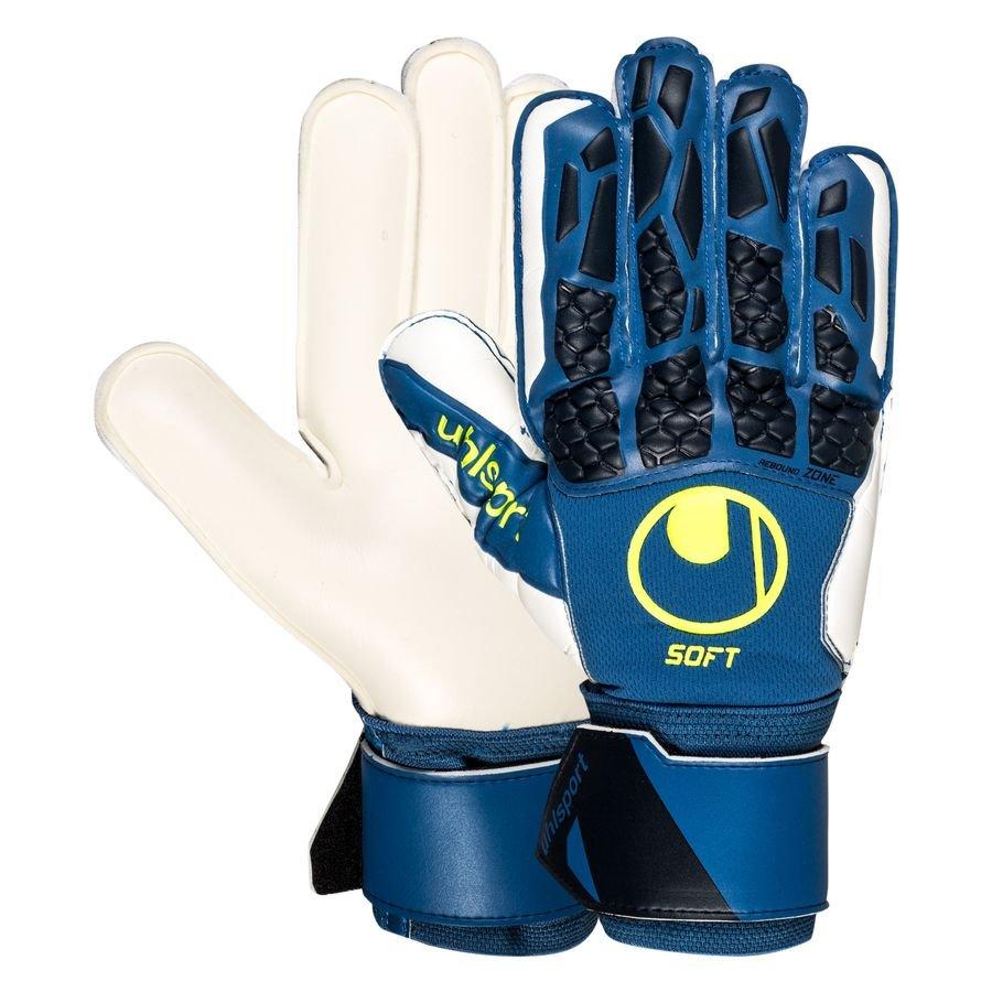 Uhlsport Keepershandschoenen Hyper Act Soft Pro - Blauw/Wit/Fluo Yellow
