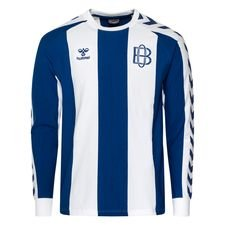 Odense Boldklub T-Shirt Fan Retro - Blå/Vit Långärmad
