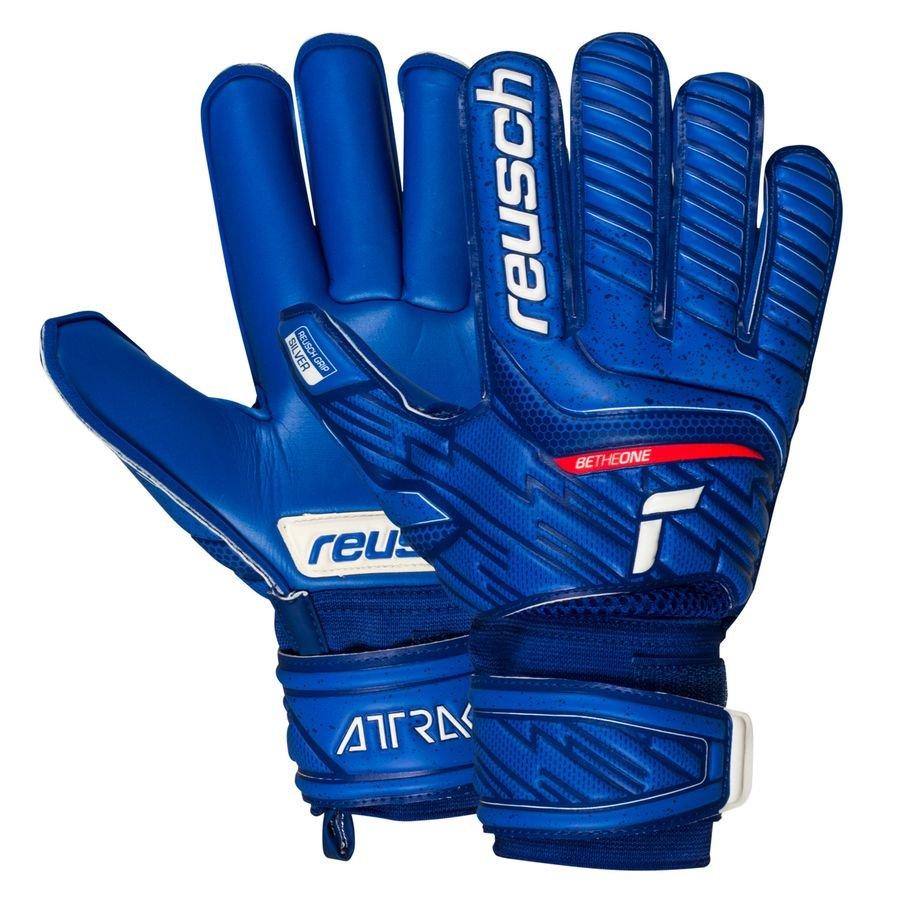 Reusch Keepershandschoenen Roll Finger Attrakt Silver - Blauw Kinderen