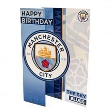 Manchester City Födelsedagskort - Blå