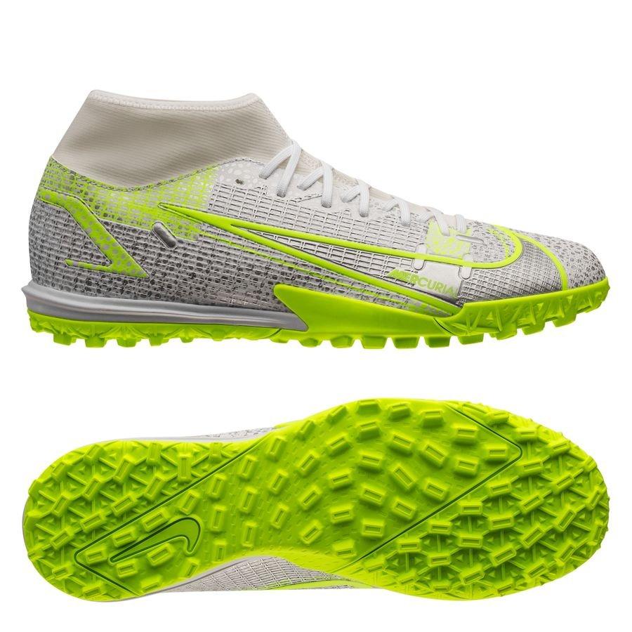 Nike Mercurial Superfly 8 Academy TF Silver Safari - Wit/Zwart/Zilver/Neon <br/>EUR 66.95 <br/> <a href=