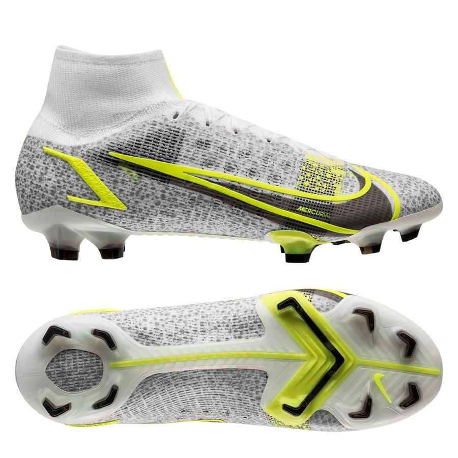 Nike Mercurial Superfly 8 Elite FG Silver Safari - Wit/Zwart/Zilver/Neon <br/>EUR 210.95 <br/> <a href=