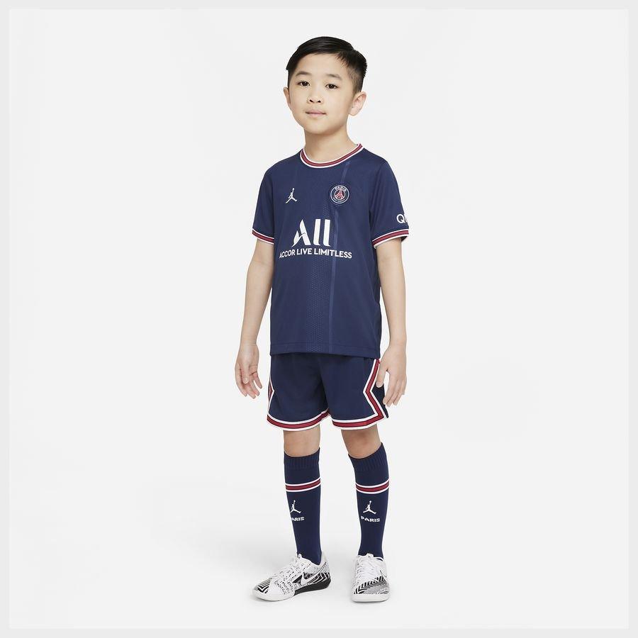 Paris Saint-Germain Hjemmebanetrøje 2021/22 Mini-Kit Børn