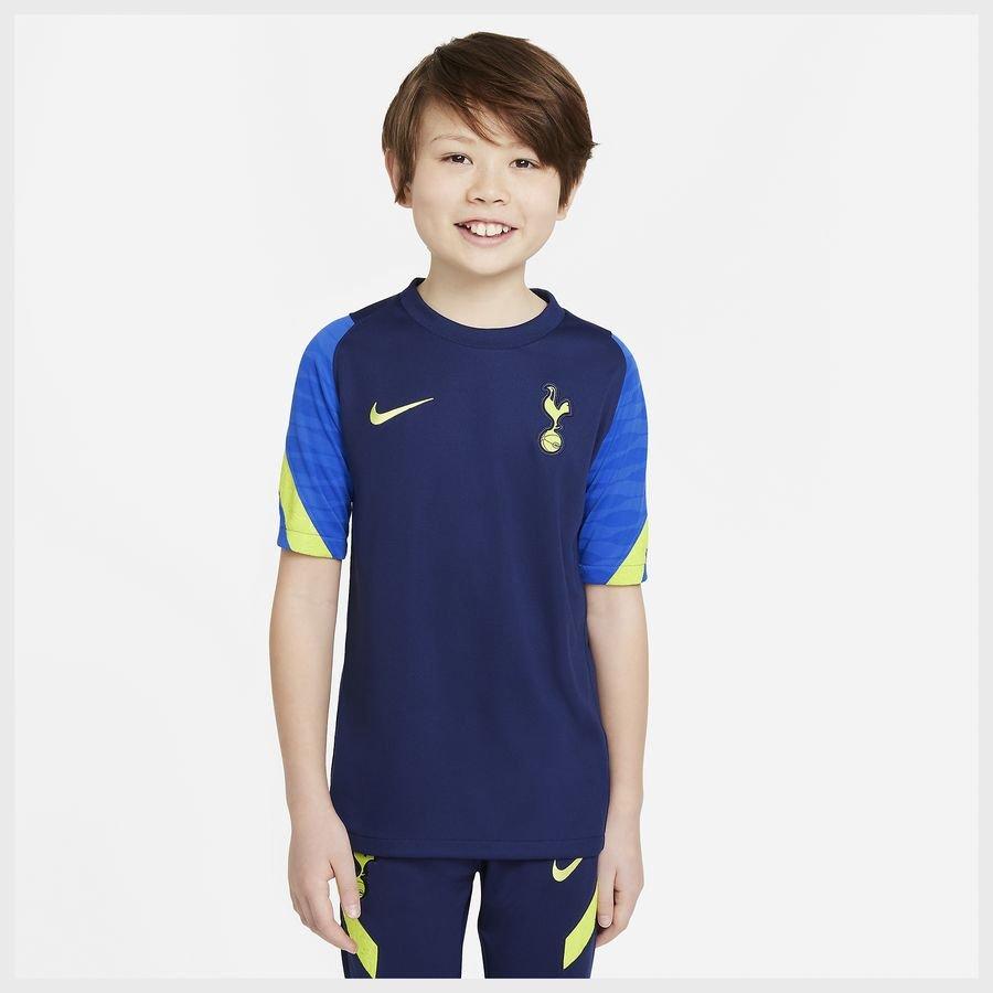 Tottenham Trænings T-Shirt Dri-FIT Strike - Navy/Blå/Neon Grøn Børn thumbnail