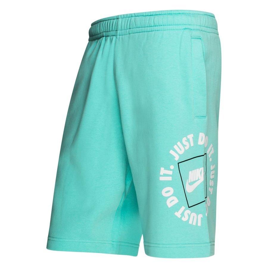 Nike Shorts NSW Fleece JDI - Turkis/Hvid thumbnail