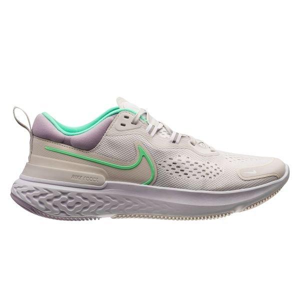 Nike Running Shoe React Miler 2 - Platinum Tint/Green Glow/White Woman