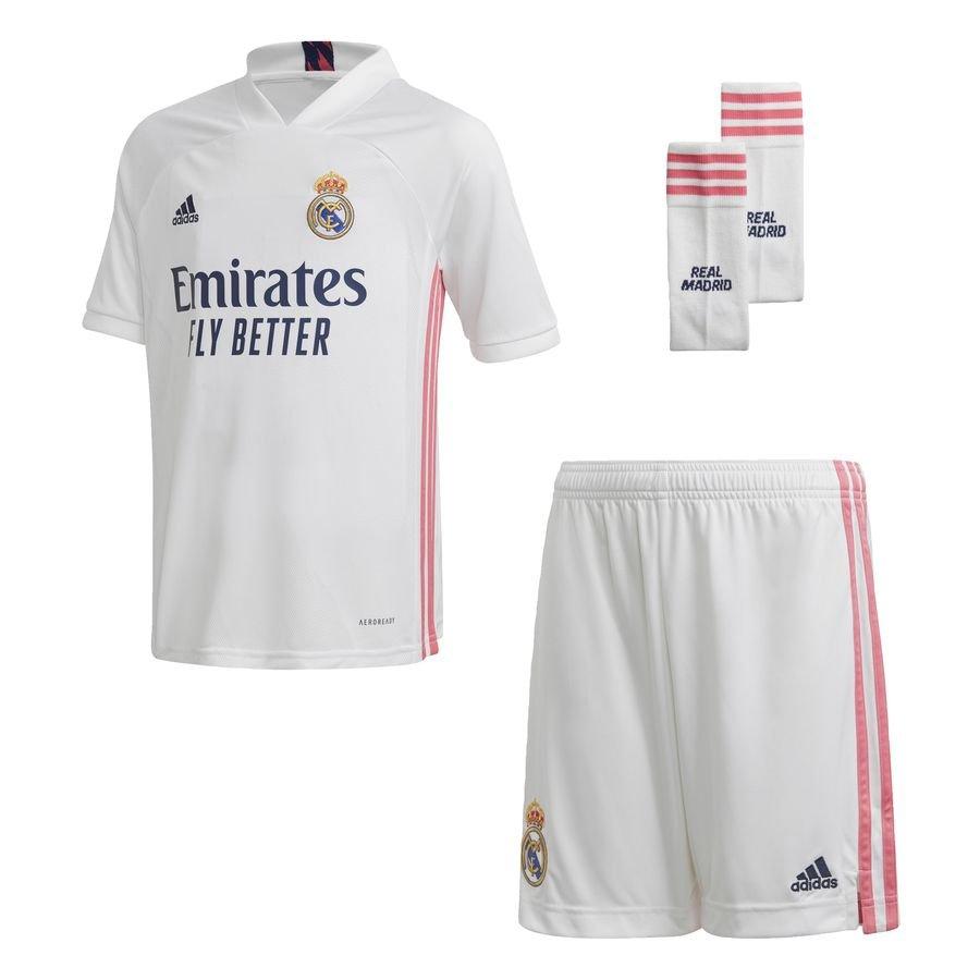 Real Madrid 20/21 Youth hjemmebanesæt Hvid