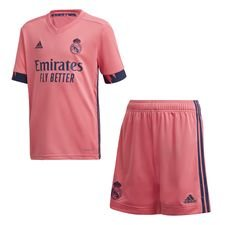 Real Madrid 20/21 Away Youth Kit Rosa