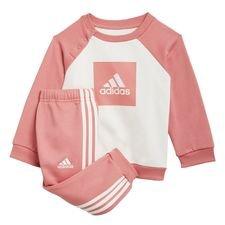 3-Stripes Fleece joggingdragt Pink thumbnail