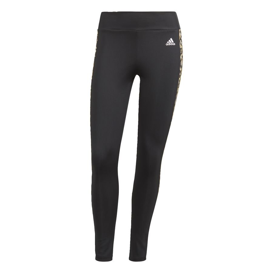 adidas Designed To Move AEROREADY Leopard Print 7/8 tights Sort thumbnail
