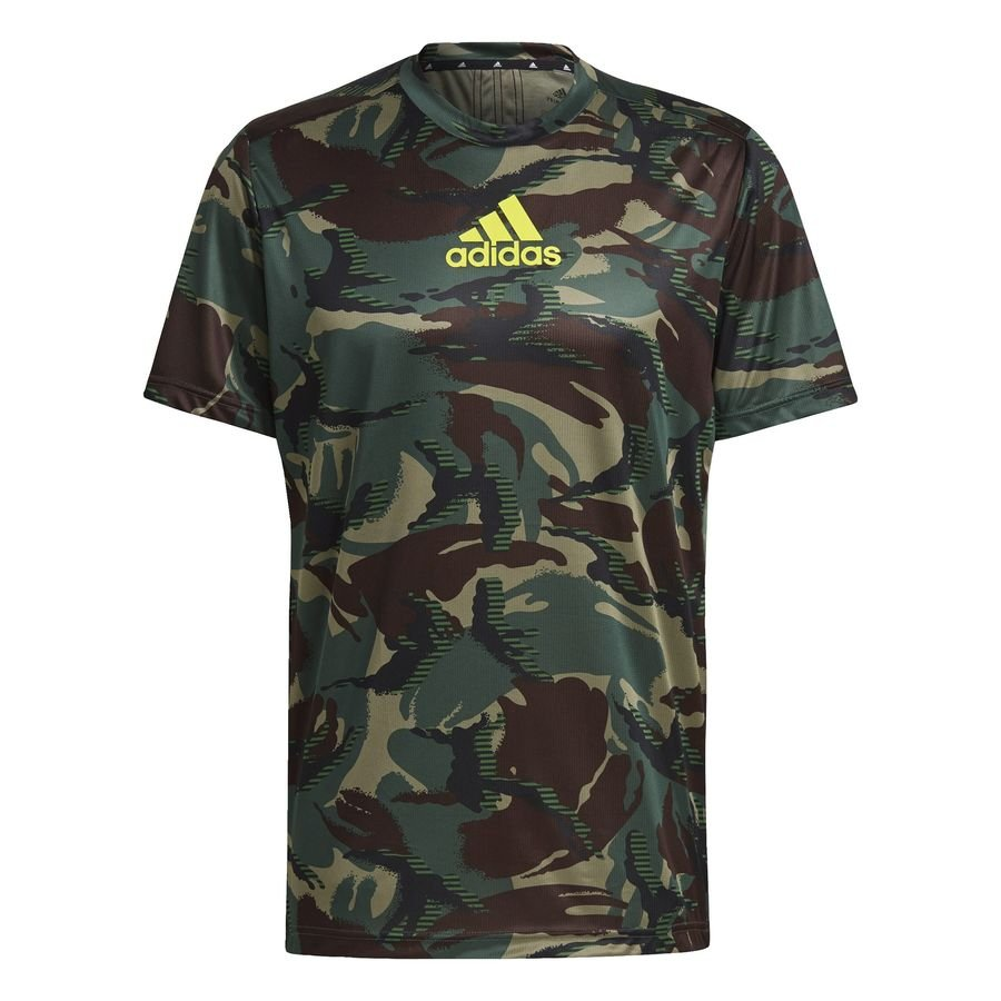adidas Designed To Move AEROREADY Camouflage Graphic T-shirt Grøn thumbnail