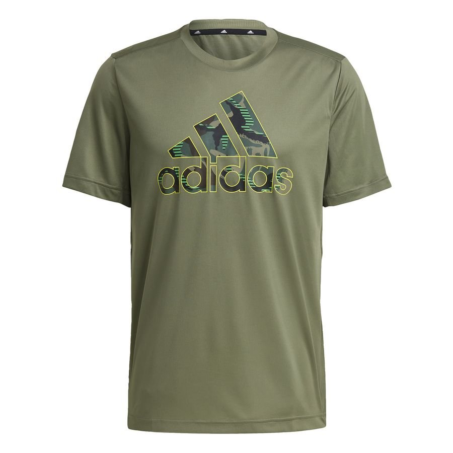 adidas Designed 2 Move Camouflage Graphic AEROREADY T-shirt Grøn thumbnail