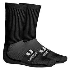 Unisport Grip Sock Low Knitted Logo - Svart/Vit