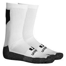 Unisport Grip Sock Low Knitted Logo - Weiß/Schwarz