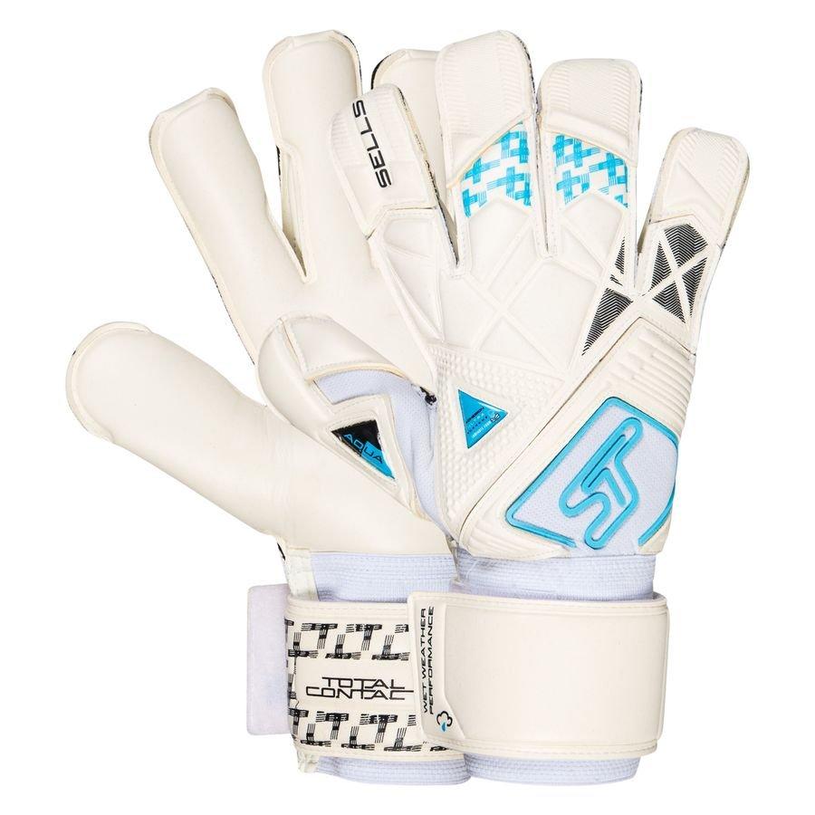 Sells Keepershandschoenen Total Contact Aqua H20 - Wit/Zwart/Blauw
