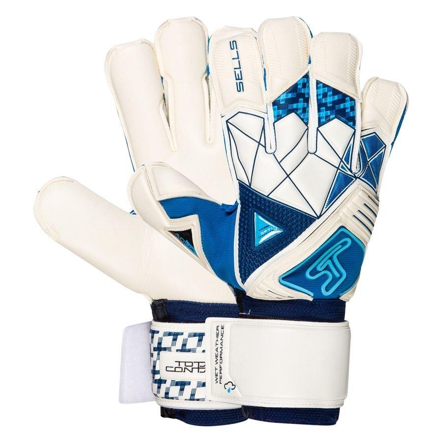 Sells Keepershandschoenen Total Contact Aqua Cyclone - Wit/Navy/Blauw