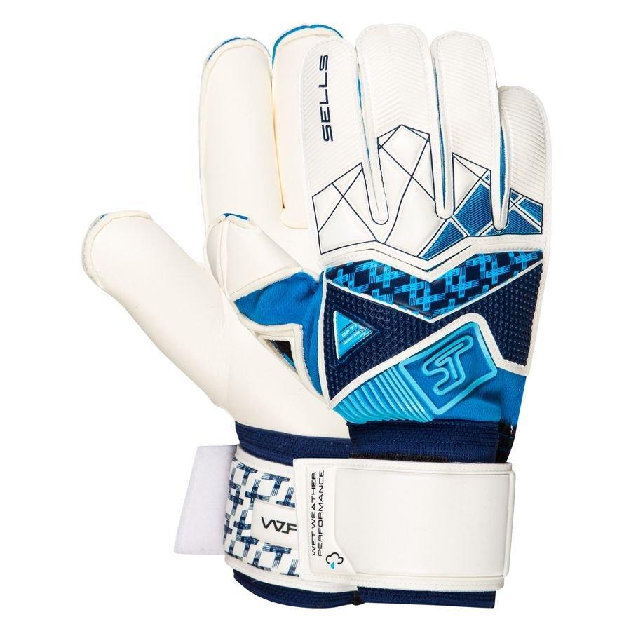 Sells Keepershandschoenen Wrap Aqua Cyclone - Wit/Navy/Blauw