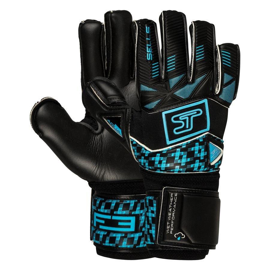 Sells Keepershandschoenen F3 Aqua Dusk - Zwart/Blauw Kinderen