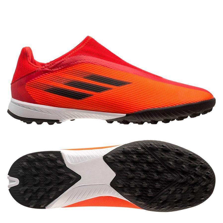 adidas X Speedflow .3 Laceless TF Meteorite - Rød/Sort/Rød Børn