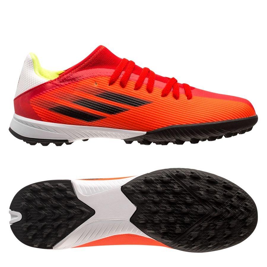 adidas X Speedflow .3 TF Meteorite - Rød/Hvid/Rød Børn