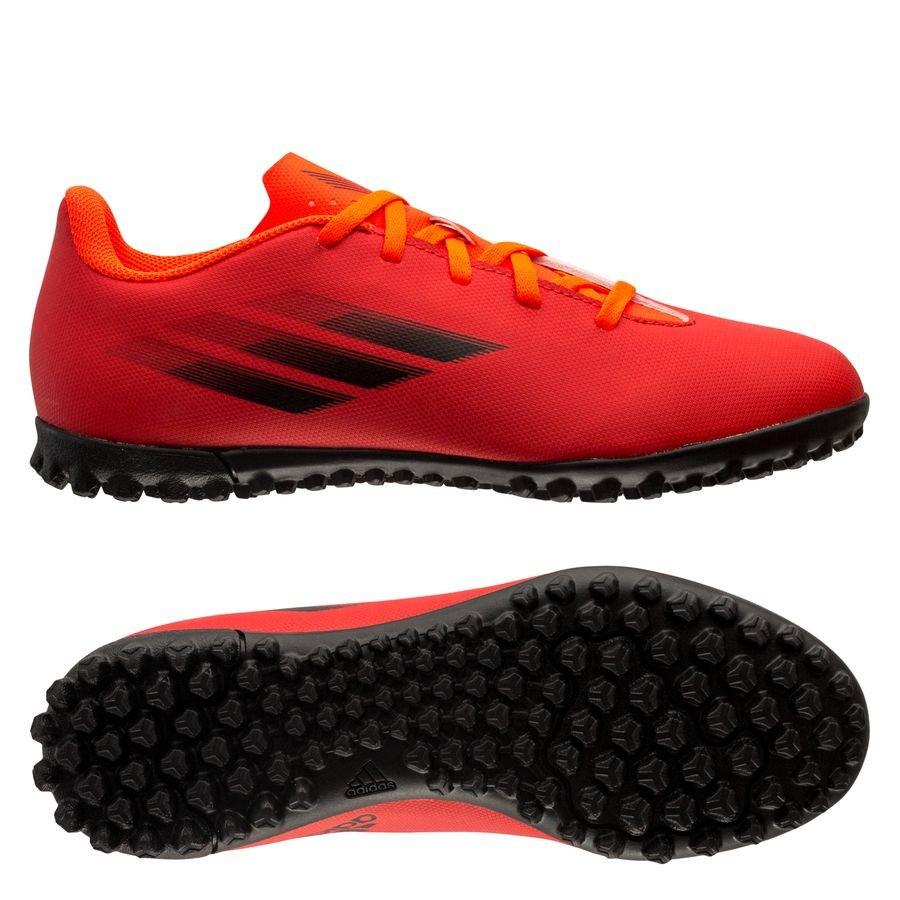 adidas X Speedflow .4 TF Meteorite - Rød/Sort/Rød Børn