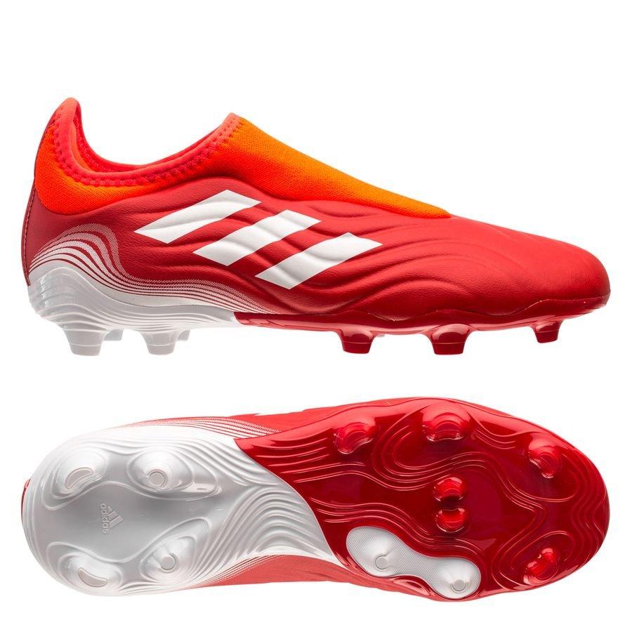 adidas Copa Sense .3 Laceless FG Meteorite - Rød/Hvid/Rød Børn