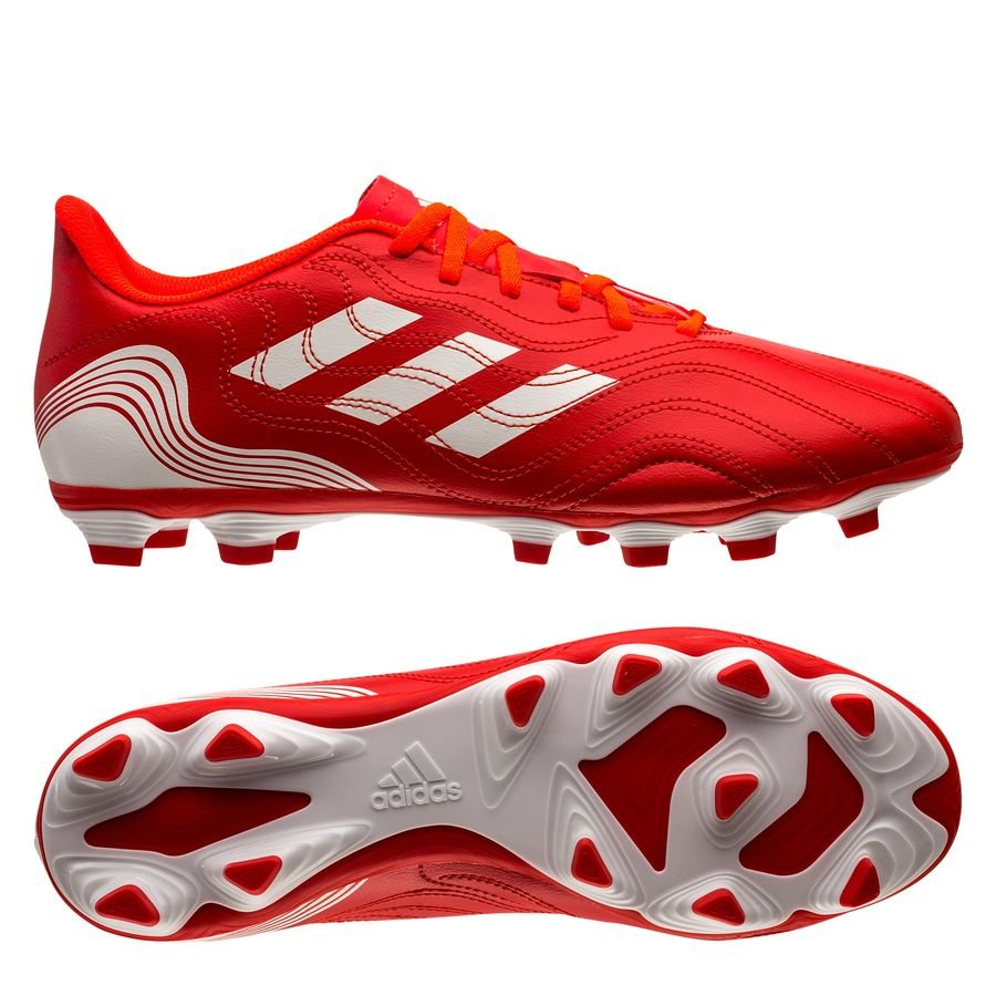 adidas Copa Sense .4 FG Meteorite - Rød/Hvid/Rød thumbnail