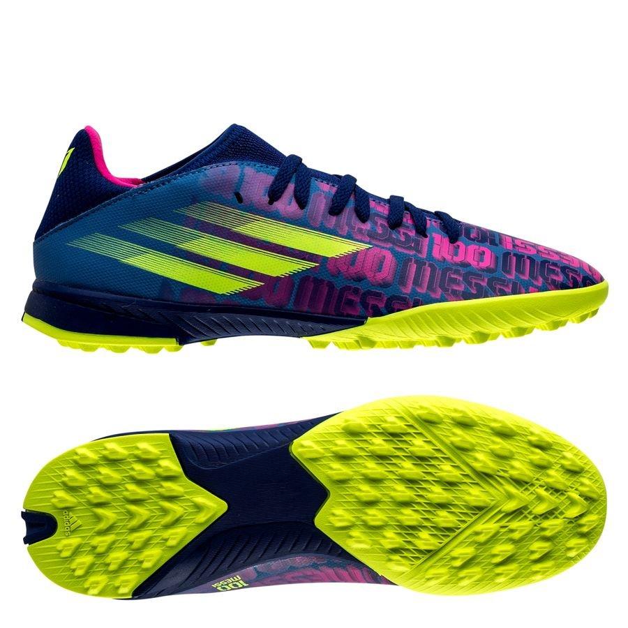 adidas X Speedflow Messi .3 TF Unparalleled - Blå/Pink/Gul Børn
