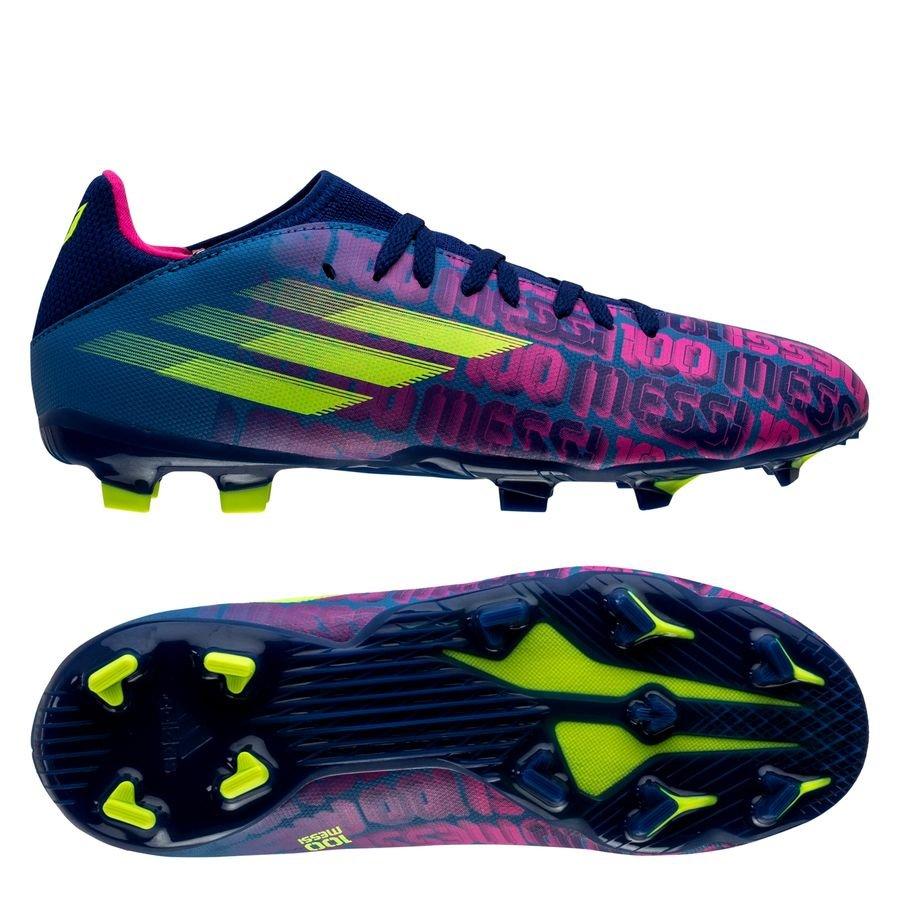 adidas X Speedflow Messi .3 FG Unparalleled - Blå/Pink/Gul Børn